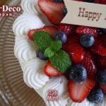 誕生日ケーキにミントを添えて。